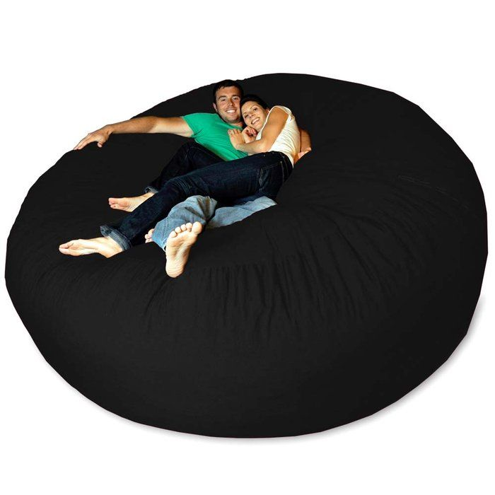 Micro Suede Giant Bean Bag Chair at Brookstone—Buy Now! - Best 25+ Huge Bean Bag Chair Ideas On Pinterest Huge Bean Bag