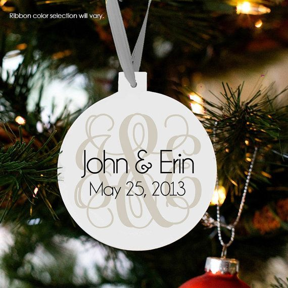 Personalized our first Christmas ornament by ornamentstop on Etsy, $18.50