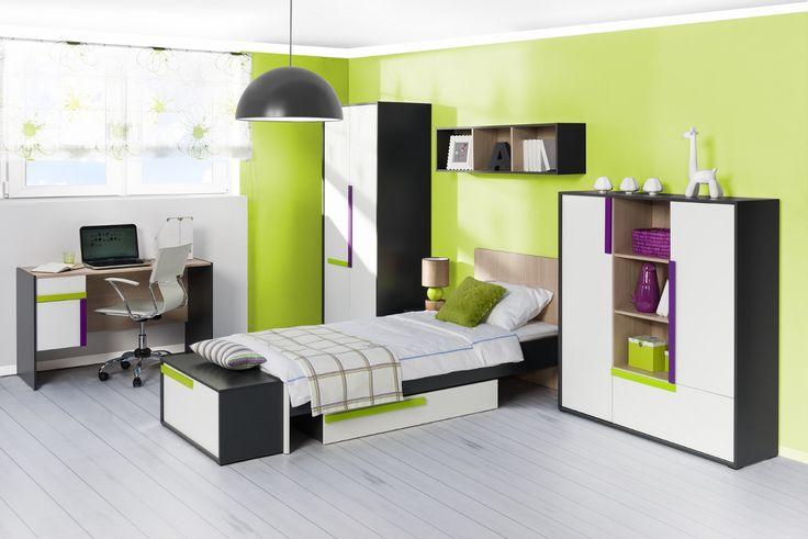 Oto nasza propozycja pokoju dla młodego człowieka #meble #furniture #kolekcja #collection  #inspiration #inspiracja #szynakameble #ikar