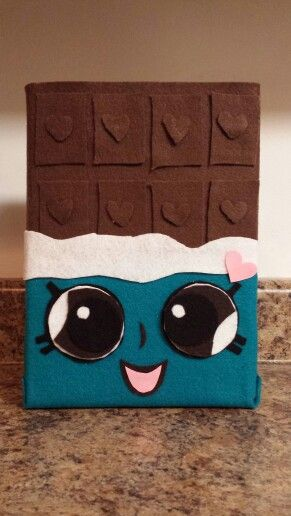 Shopkins Valentines Day party box - Made from a cereal box and felt. Super Easy!!