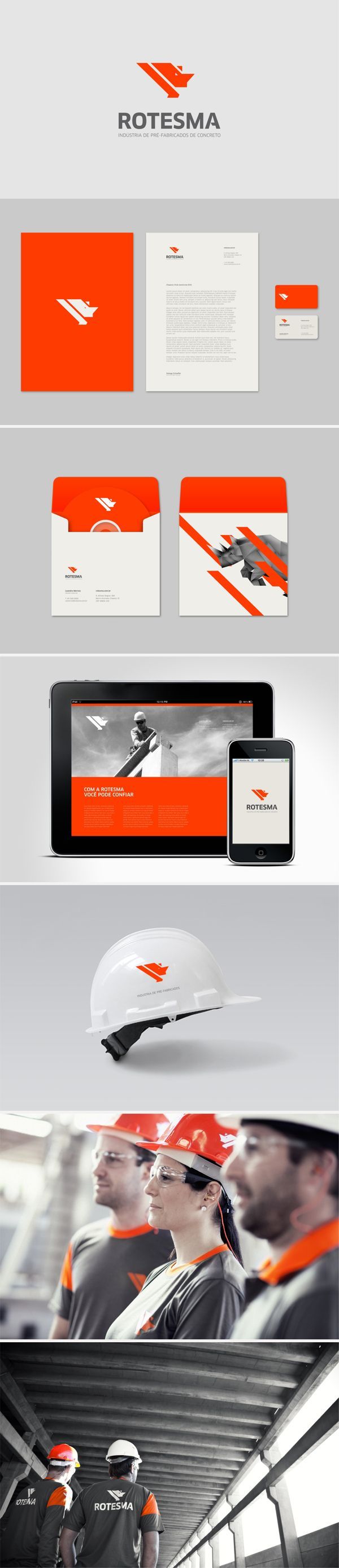 identity / Rotesma construction | #stationary #corporate #design #corporatedesign #identity #branding #marketing < repinned by www.BlickeDeeler.de | Visit our website: www.blickedeeler.de/leistungen/corporate-design