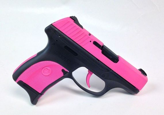 This Is A Ruger Lc9 9mm Handgun With Contrast Pattern In Hogue Pink And The Frame Done Up For Little Extra Www Tzarmory Com Guns