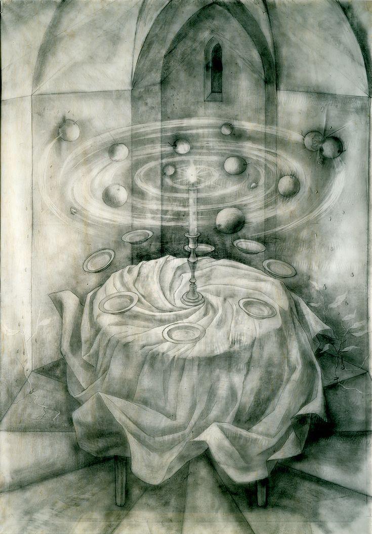 Naturaleza Muerta Resucitando (Dibujo Previo), 1963. – Remedios Varo Remedios Varo