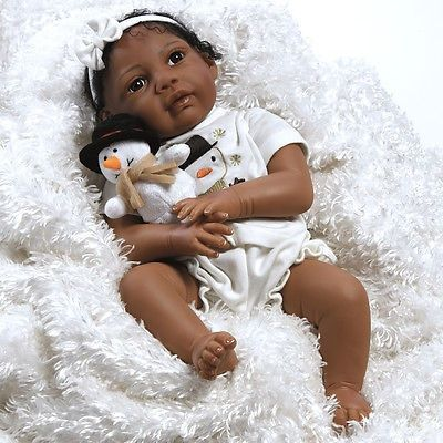 cool African American Ethnic Doll Realistic Reborn Baby Girl Lifelike Soft Vinyl - For Sale Check more at http://shipperscentral.com/wp/product/african-american-ethnic-doll-realistic-reborn-baby-girl-lifelike-soft-vinyl-for-sale/