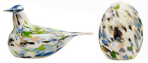 Oiva Toikka  -  Annual-Art-Bird-2014 Alder Thrush and Egg  - Lepparastas,Finland