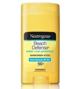 Neutrogena solid sunscreen stick- doesn't count toward carry on liquids