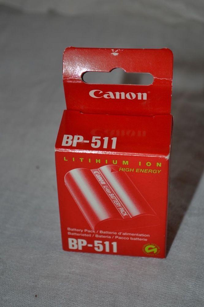 Canon BP-511 Battery for EOS 300D 10D 20D 30D 40D 50D Genuine OEM Original  #Canon