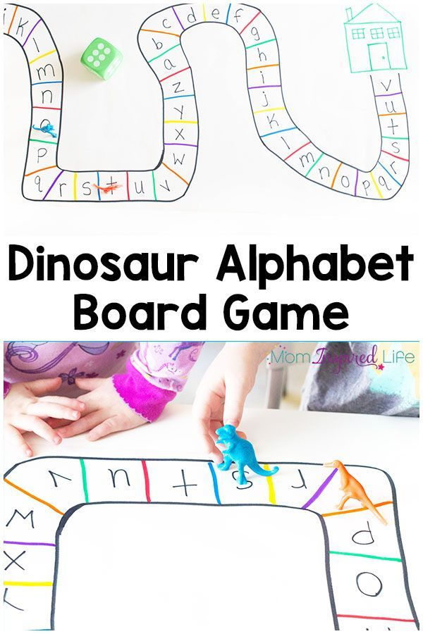 This dinosaur alphabet board game is a fun way to learn letters and a great extension activity for Goldilocks and the Three Bears.