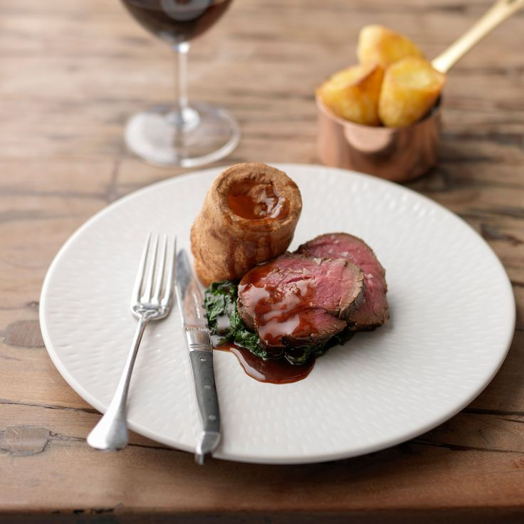 Treacle-cured Beef and Roast Potatoes with Yorkshire Puddings | Tom Kerridge's Proper Pub Food