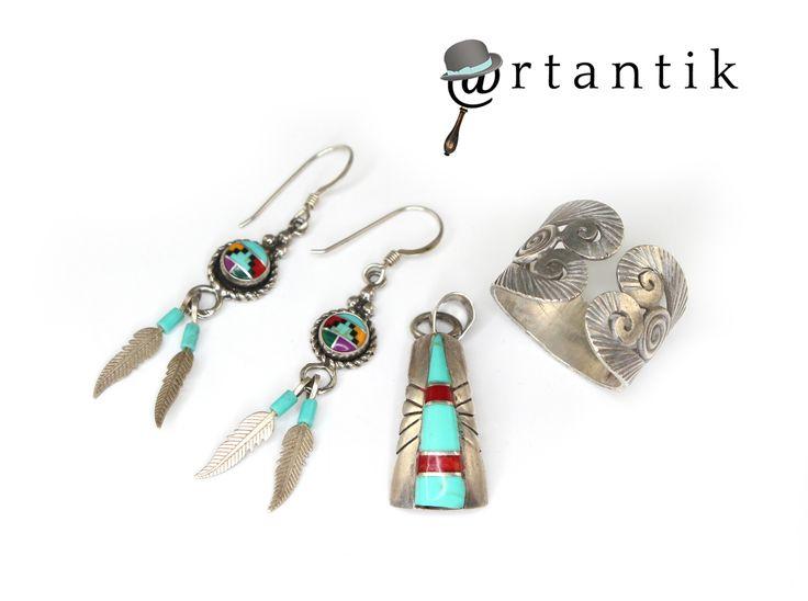 www.artantik.ro  Bijuterii amerindiene - argint & pietre naturale