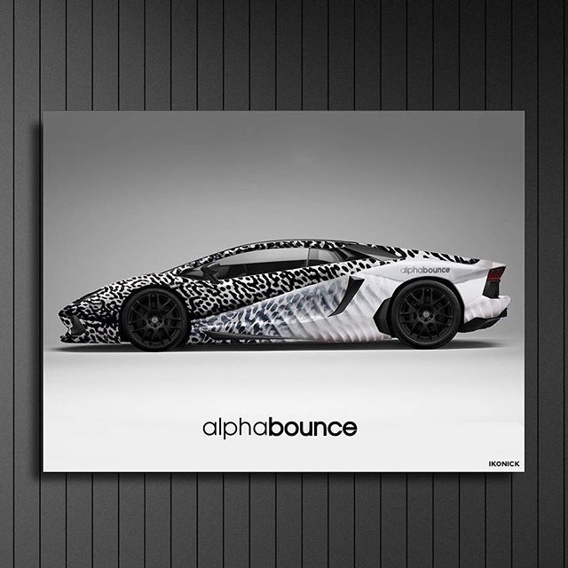 """Alphaghini"" canvas now available on our site! Tag a friend who'd want this! Link in bio"