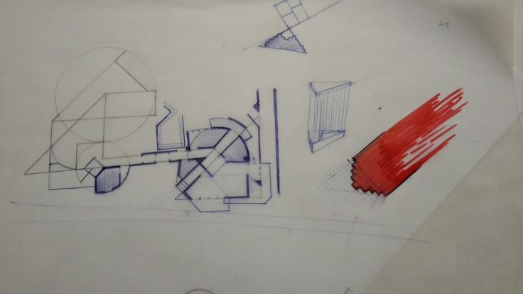 Plan first floor architecture sketches uncomplete