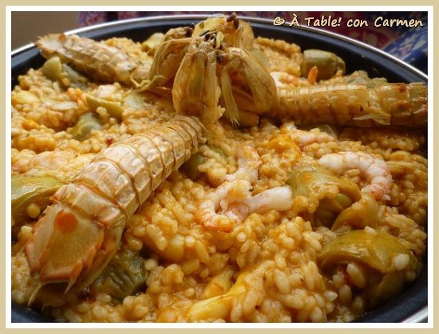 Arroz de Galeras con Sepia y Alcachofas