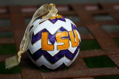 LSU Chevron Ornament