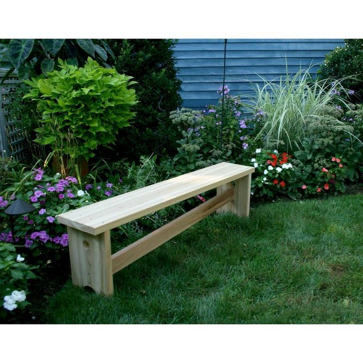 Creekvine Designs 5' Cedar 1800 Traditional Bench w/ Slant Brace