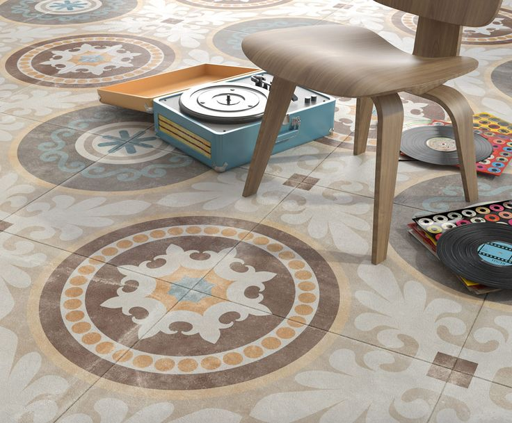 ARCANA Tiles | Naos 60x60 cm. | decorated | interior design | Arcana ceramica