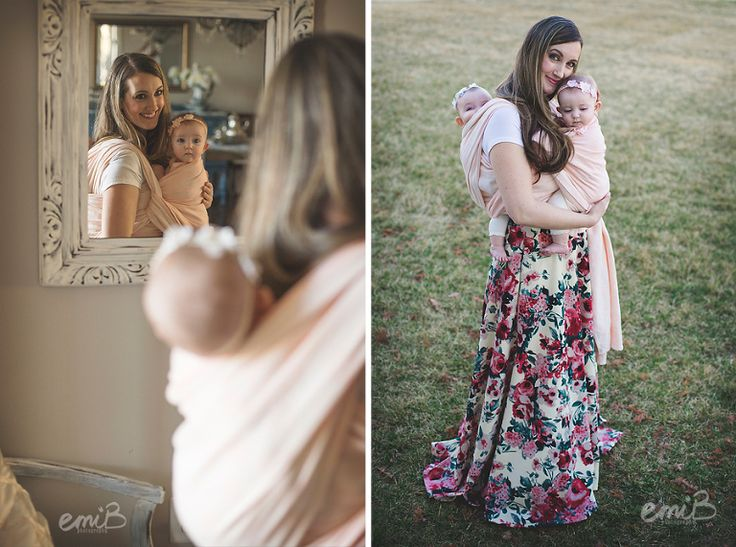 6 Month Twins | Baby wearing | Tandem wrapping | emiB Photography