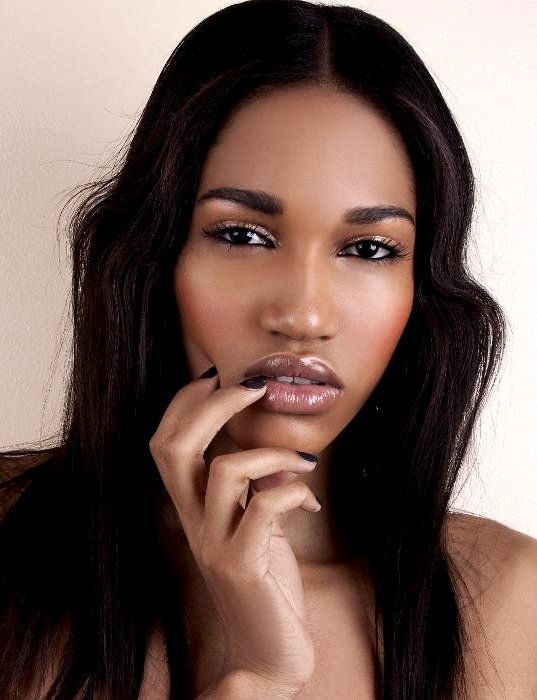 Haired girls half asian and black models