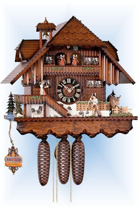 Hones Busy Farmhouse cuckoo clock 17'' - Bavarian Clockworks