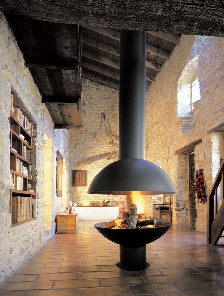 Suspended Focus Models Fireplace Design By Custom Fireplace Designs – 12 | Designalmic