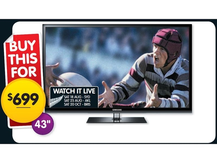Samsung 3D High Definition Plasma TV PS43D490 $699 *Prices subject to change