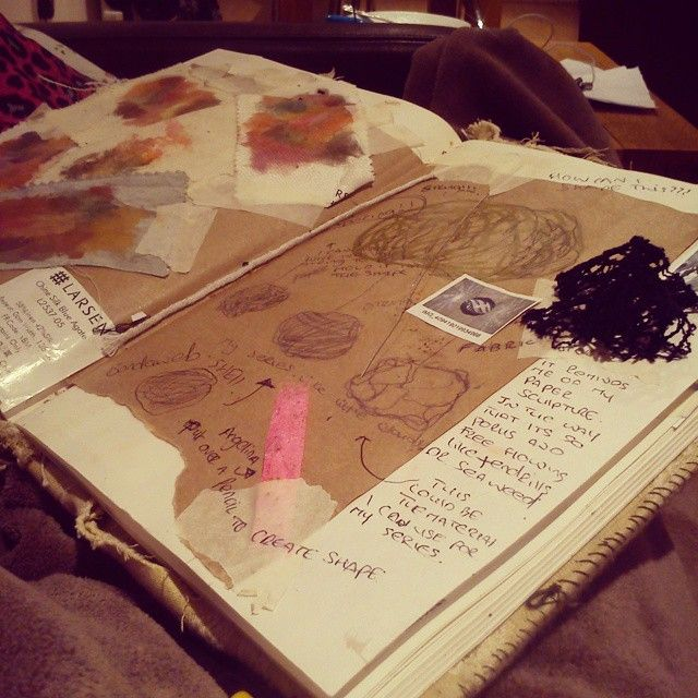 Miss my journal already and I won't see it for a week cause of the assessments #journal #artstudents #artcollege #colourfull #ncad