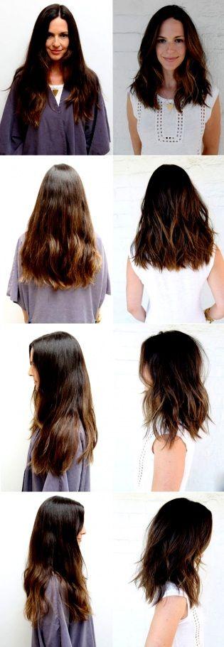 Modische Frisuren Halblang Blond Gestuft Haare Mit…