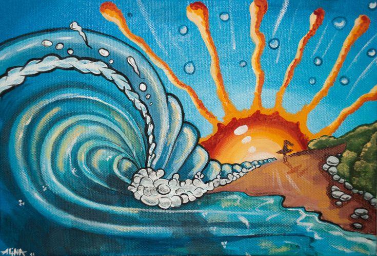abstract beach art - Buscar con Google