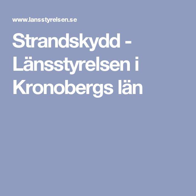 Strandskydd - Länsstyrelsen i Kronobergs län