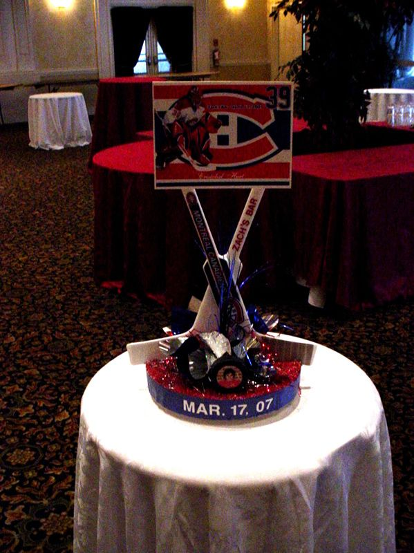 Montreal Canadiens centerpiece NHL2  Hockey Theme  Hockey centerpieces Hockey party Hockey