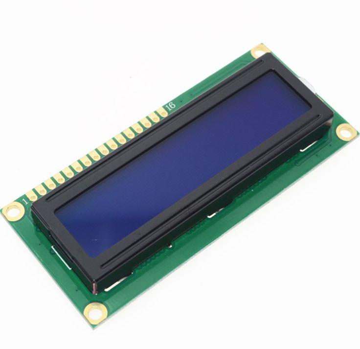 Бесплатная Доставка 1 ШТ. LCD1602 1602 модуль Синий экран 16x2 Символьный ЖК-Дисплей Модуль HD44780 Контроллер синий черный свет