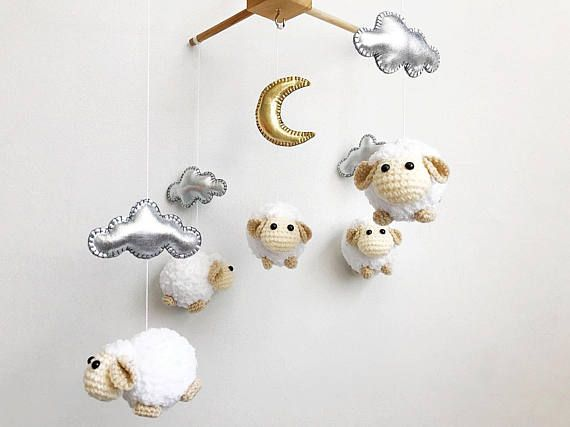 Amigurumi Sheep Baby Mobile : 21 best crochet baby mobile images on pinterest crochet baby