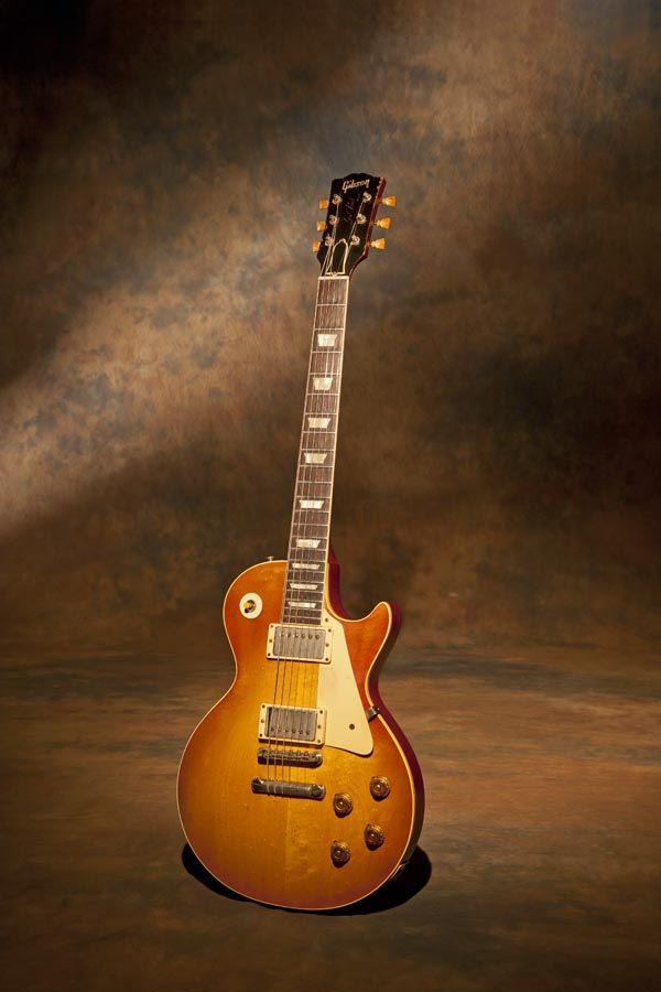 "1959 Gibson Les Paul Standard. My first of the four original sunburst Les Pauls that I own. This guitar serial #9-0829 is named ""Magellan"". I named this guitar after the great explorer because I managed to circumnavigate the globe with it on a world tour in 2011 battling airlines (especially in Australia) all to get the guitar to London to do a show filling in for the late great Gary Moore with the legendary Jack Bruce at Royal Festival Hall."