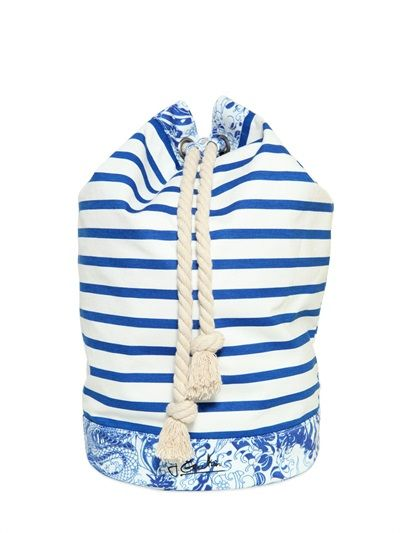 STRIPED COTTON JERSEY BACKPACK