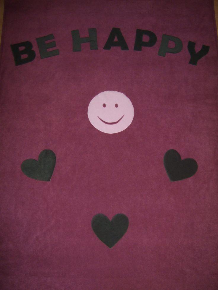 """""""Légy boldog"""" feliratú takaró / Be Happy blanket"""
