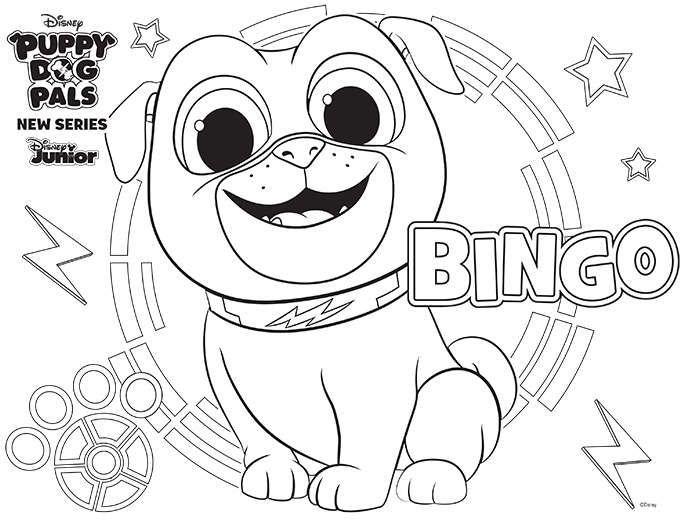 Puppy Dog Pals Bingo Fiesta De Cachorros