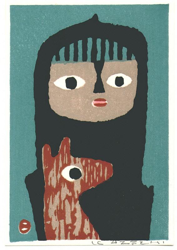 print by umetaro azechi via thegoldensmith.blogspot.com