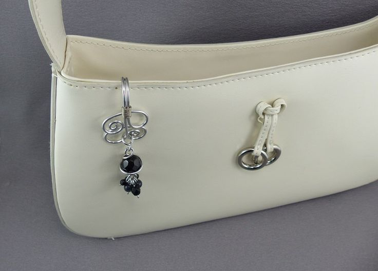 Keychain Purse Key Hook - Key Finder Purse Hooks - Handmade Keychain Purse Charm by WireExpressions on Etsy https://www.etsy.com/listing/185594222/keychain-purse-key-hook-key-finder-purse