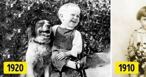 20фотографий отом, как выглядели дети иихлучшие друзья 100 лет назад