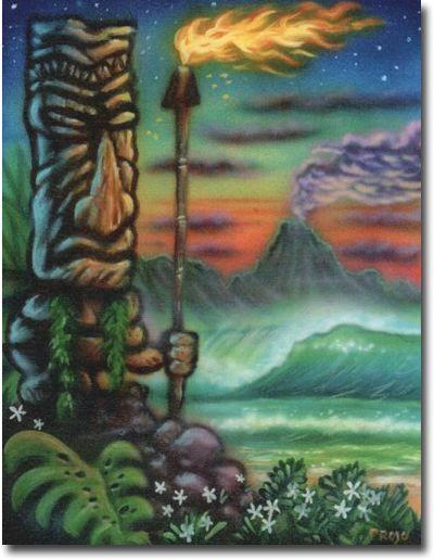 Artist Jeff Pagay ~ Polynesian Retro Tiki Art