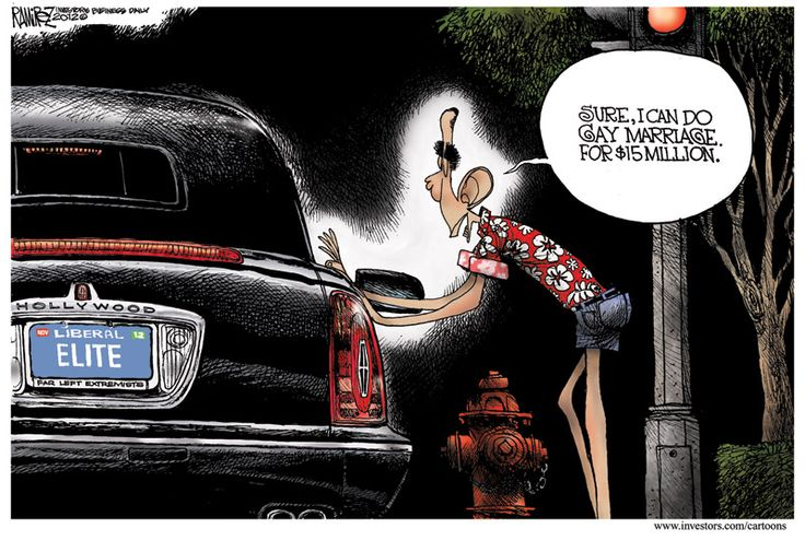 Michael Ramirez on President Obama's gay marriage flip-flop and the Hollywood connection: Conservation Propaganda, Gay Marriage, Ramirez Cartoon, Obama Folli, Politicalcartooon Obama, Michael Ramirez, Election Consid, Cartoon Hats, Politics Cartoon