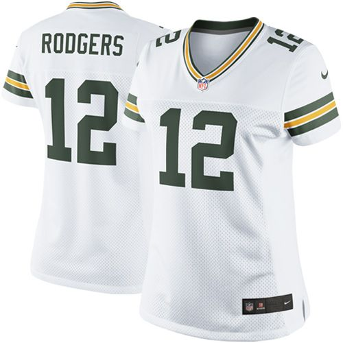 Nike Aaron Rodgers Green Bay Packers Womens Limited Jersey – White
