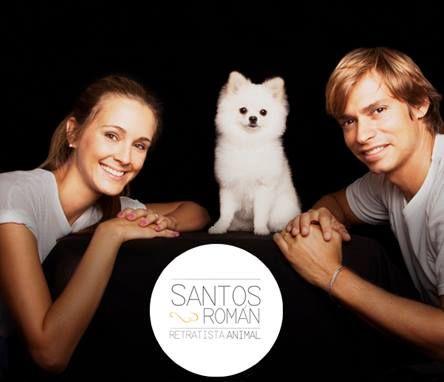 Sesión para Lulú, la hermosa Pomerania de Carlos Baute y Astrid Klisans.