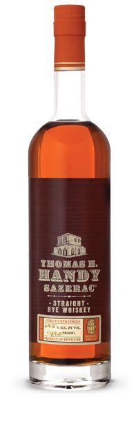 (A) Thomas H. Handy Sazerac Straight Rye Whiskey (63.45% abv, 2012 release): Oh. My. At nearly 128 proof, this is not for sissies. However, the initiated palate will discover notes of butterscotch, vanilla, smoke and leather. A few drops of water turns it into a more traditional rye. Still nice, but not nearly as exciting as at full strength.