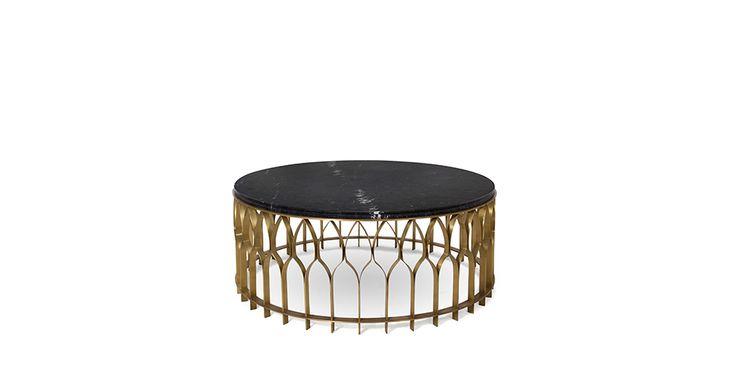 MECCA Brass Coffee Table Modern Design by BRABBU will enhance your modern home decor.