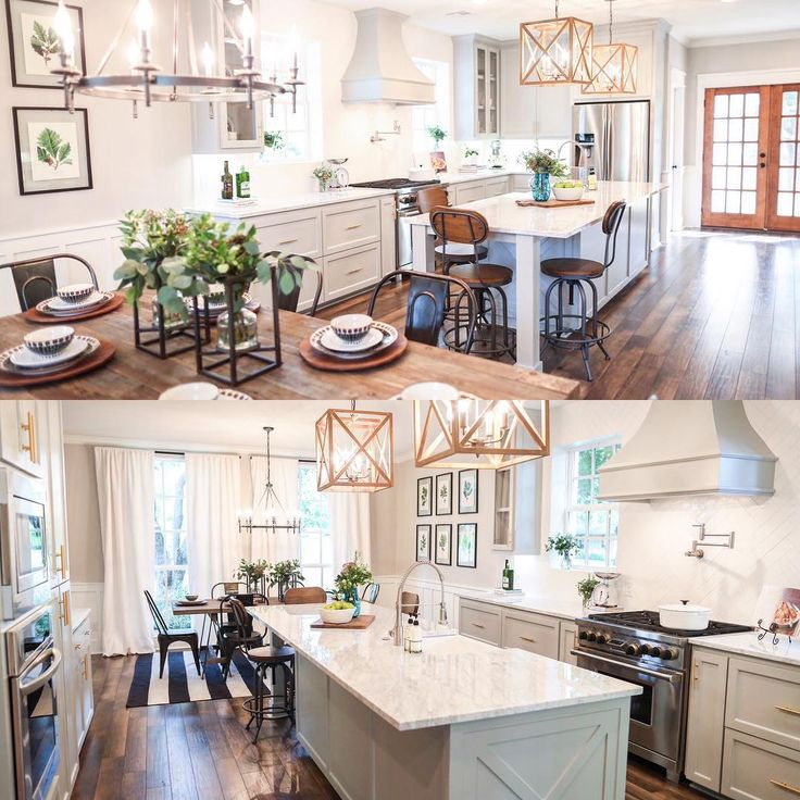 Here are two different views of the kitchen from this for Kitchen ideas joanna gaines