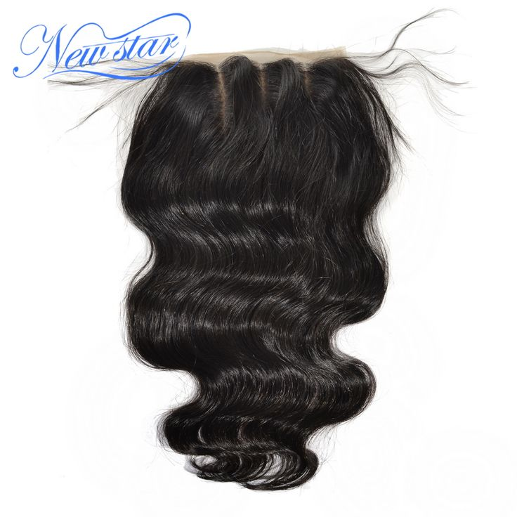 alibaba new star 3 part brazilian virgin hair body wave closure bleached knots with bady hair, Free shipping