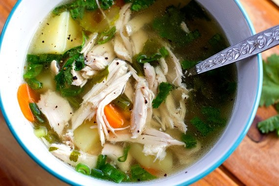 Fall Off The Bone Chicken Soup  #EatDrinkPaleo