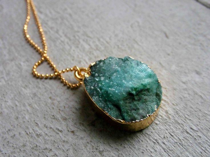 ✭ Quarzkristall ✭ vergoldete Kette  von Mina Gold Design auf DaWanda.com
