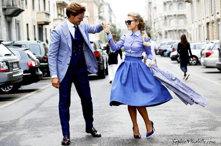 Mr Raro, Eleonora Sebastiani / Milan Fashion Week / Streetstyle / ss15